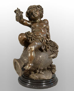 Bronze Kids Sculpture-KT007