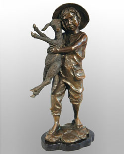 Bronze Kids Sculpture-KT009