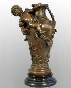 Bronze Vase Sculpture-VT001