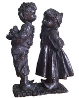 Bronze Kids Sculpture-KY001