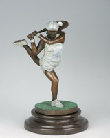 Bronze tennis girl HYF-1025B