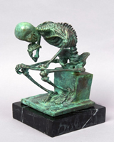 Bronze skeleton statue HYF-1055